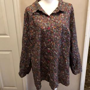 Catherine's floral blouse